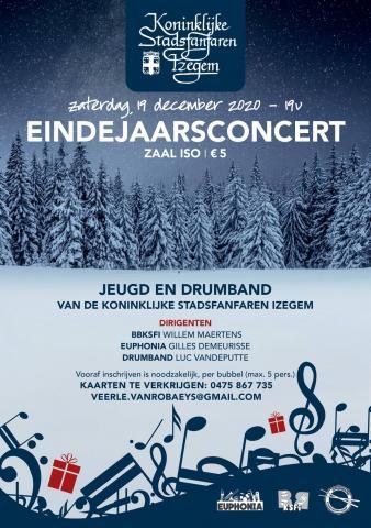 Flyer eindejaarsconcert Euphonia en jeugd KSFI