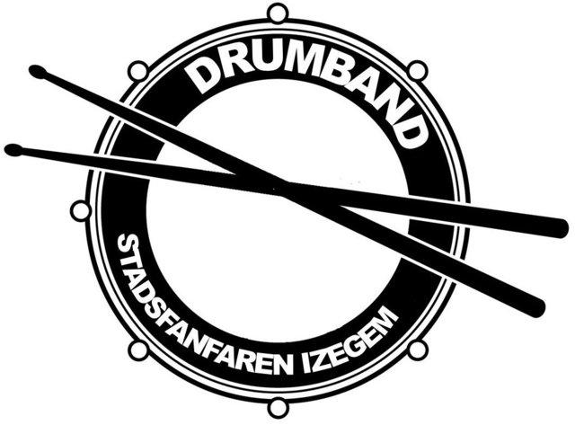 Logoe van het trommelkorps van de Koninklijke Stadsfanfaren Izegem