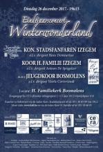 Affiche eindejaarsconcert Winterwonderland Stadsfanfaren Izegem