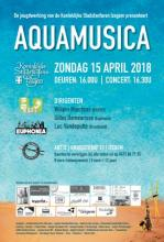 Affiche jeugdconcert KSFI met optredens van trommelkorps, beginnersband BBKSFI en Euphonia