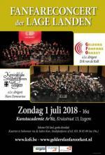 Affiche dubbelconcert Stadsfanfaren Izegem en Gelders Fanfareorkest