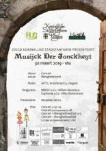 Flyer voor het jeugdconcert van de Koninklijke Stadsfanfaren Izegem