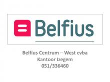 Logo Belfius Centrum-West